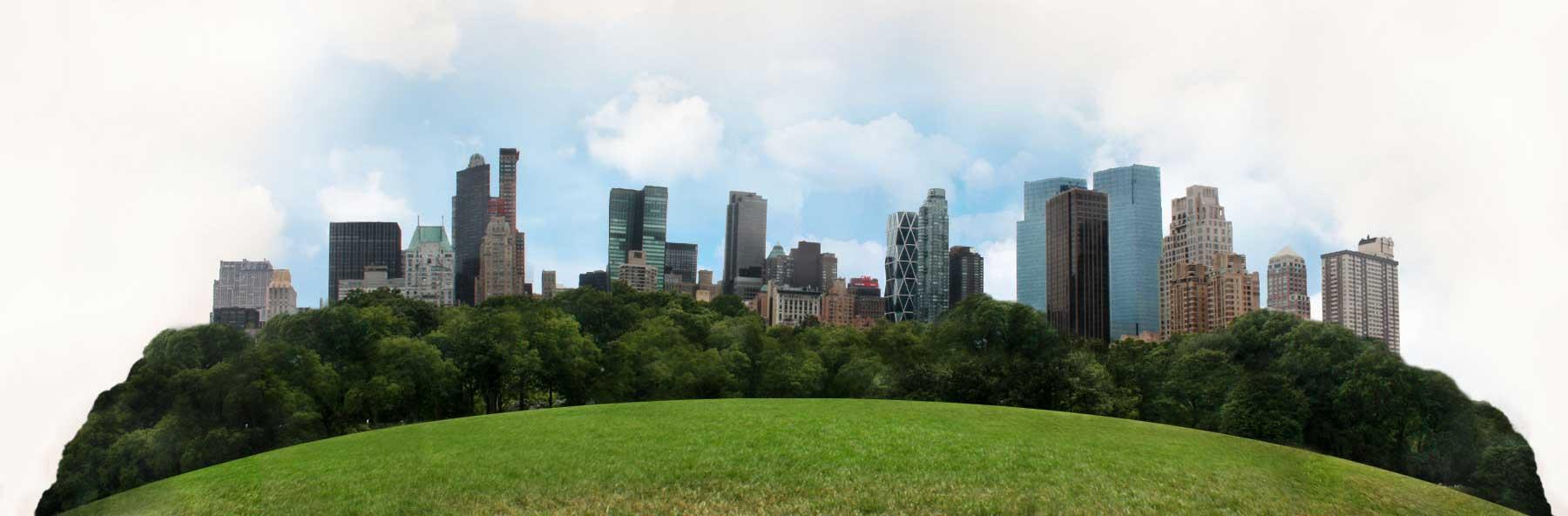 NYC skyline.
