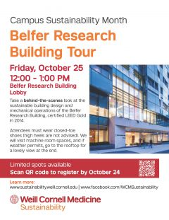Belfer Research Building Tour Poster