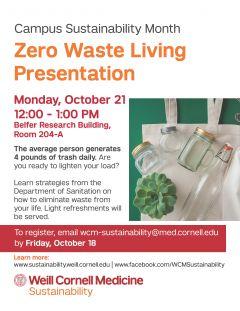 Zero Waste Living Presentation Poster